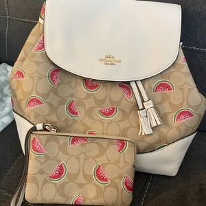 NWT Coach backpack and wristlet